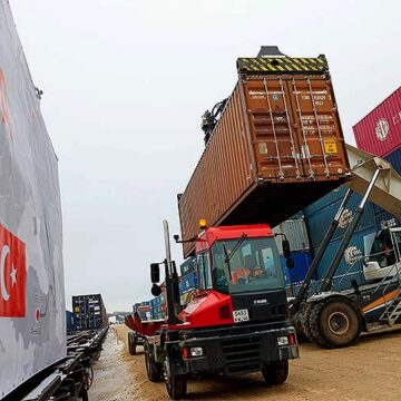 THE BLOC EXPORT TRAIN PERFORMED THE FIRST VOYAGE TO RUSSIA